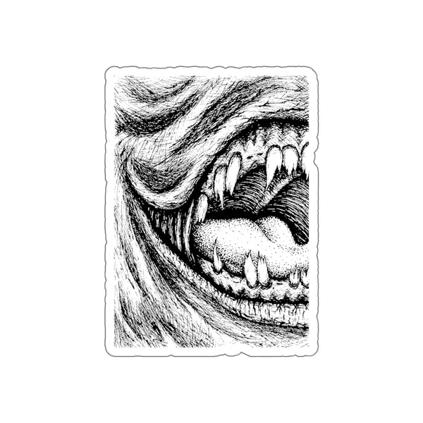 Smile | Vinyl Sticker | Creepy Art Decal