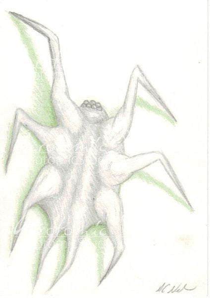 """Skitter"" Original ACEO art card"