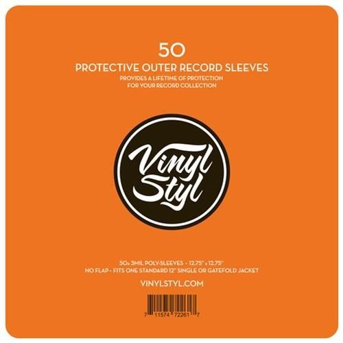 Vinyl Styl Protective Outer Record Sleeve (50ct)