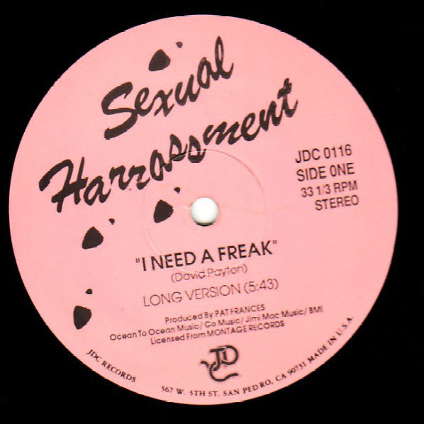 Sexual Harrassment | I Need A Freak