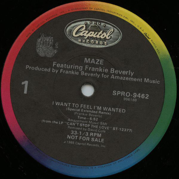 Maze Featuring Frankie Beverly | I Want To Feel I'm Wanted / Twilight (Remix)