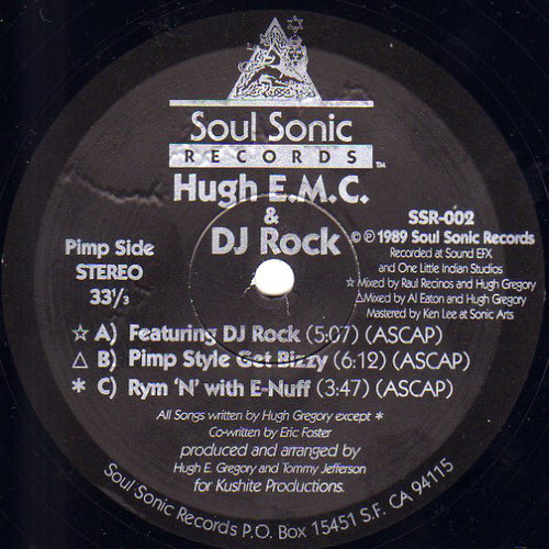 Hugh EMC | Featuring DJ Rock / Pimp Style Get Bizy / Rym 'N' With E-Nuff / I Don't Stop