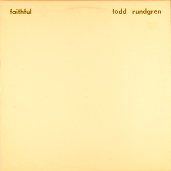 Todd Rundgren | Faithful