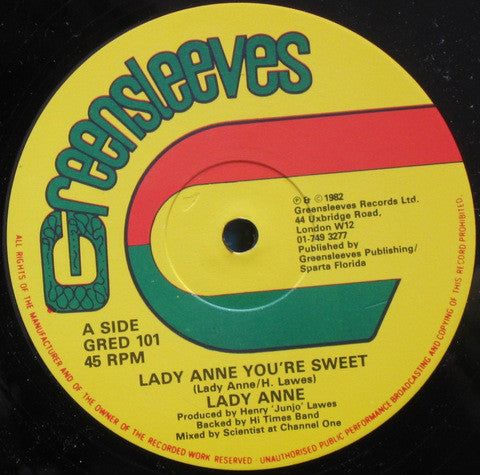 Lady Ann | Lady Anne You're Sweet / Ball A Roll