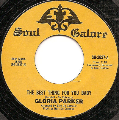 Gloria Parker | The Best Thing For You Baby / I'm Headed In Right Direction