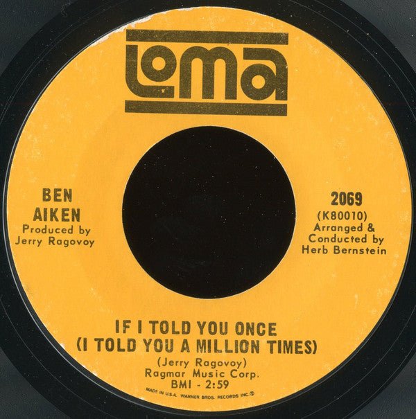 Ben Aiken | If I Told You Once (I Told You A Million Times) / You Were Meant To Be My Baby