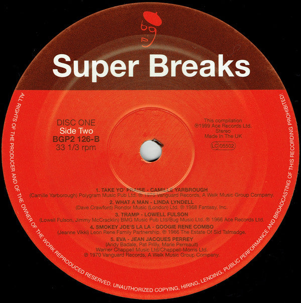 Various | Super Breaks  Essential Funk, Soul And Jazz Samples And Break  Beats (New)