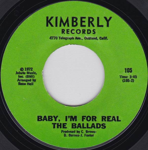 The Ballads | Dizzy World / Baby, I'm For Real