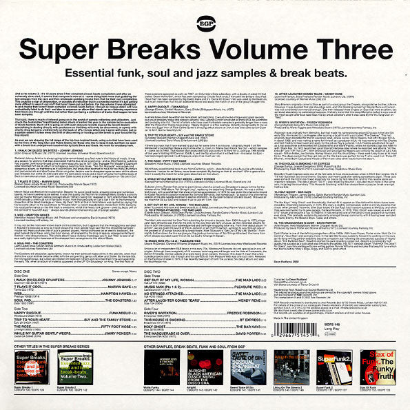 Various | Super Breaks  Essential Funk, Soul And Jazz Samples & Break  Beats  Volume Three (New)