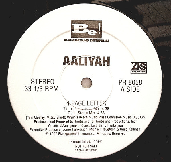 Aaliyah | 4 Page Letter