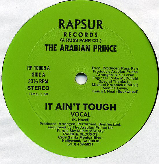 The Arabian Prince | It Ain't Tough