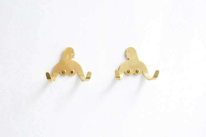 Female Support System Brass Hook - Twins