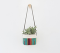 "6"" Canvas Hanging Planter"