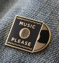 Music Please Enamel Pin