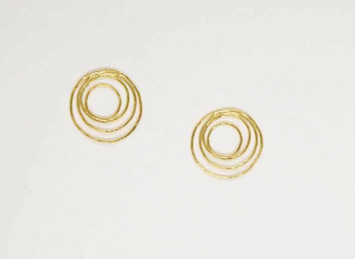 Gogh Circle Studs by Mountainside Handmade Jewelry
