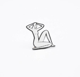 Seated Nude Pin