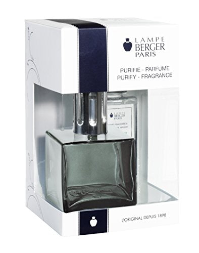 Lampe Berger 113705 Cube Giftset Onyx lamp Gift Set - Cube Onyx, Includes Fragrance ocean Breeze 180ml / 6.08 Fl.Oz