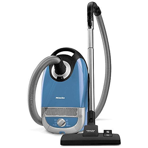 Miele Complete C2 Hard Floor Canister Vacuum Cleaner with SBD285-3 Combination Rug and Floor Tool + SBB400-3 Parquet Twister XL Floor Brush - Tech Blue