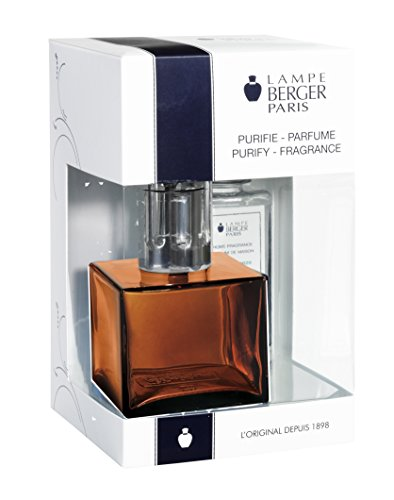 Lampe Berger 113691 Cube Giftset Amber lamp Gift Set - Cube Amber, Includes Fragrance ocean Breeze 180ml / 6.08 Fl.Oz