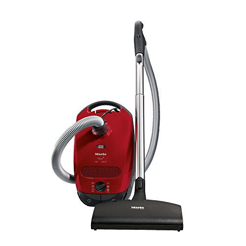New Miele Classic C1 Titan Canister Vacuum, Mango Red