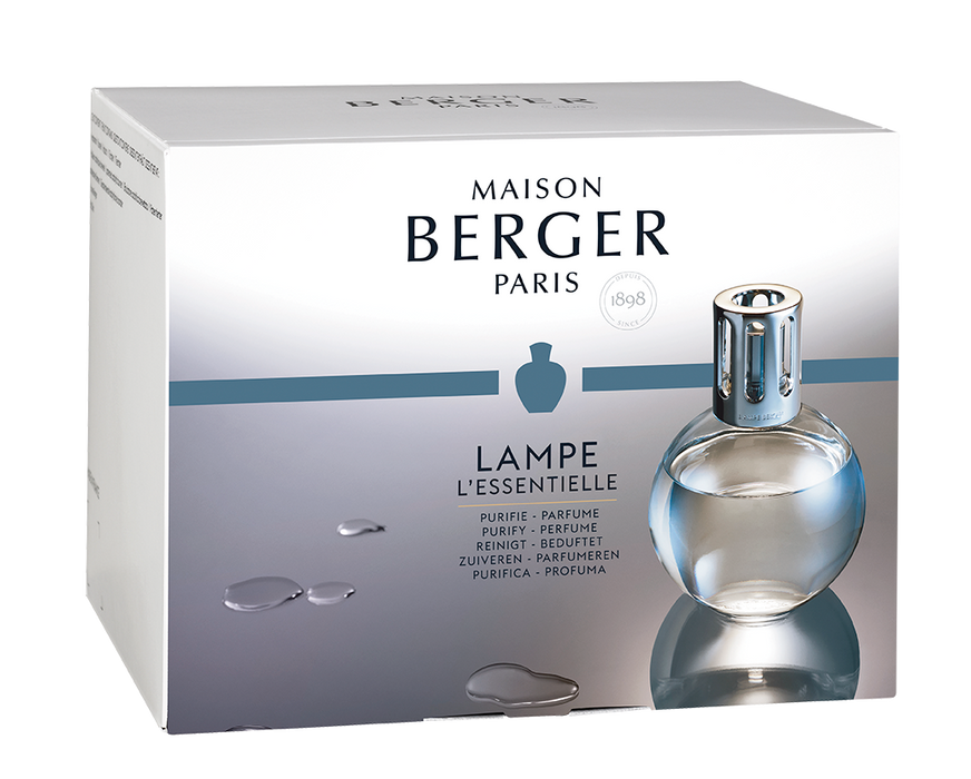 Essential Round Glass Lamp Gift Set + 180ml So Neutral + 180ml Ocean Breeze Fragrance - Lampe Berger Home Fragrance Diffuser