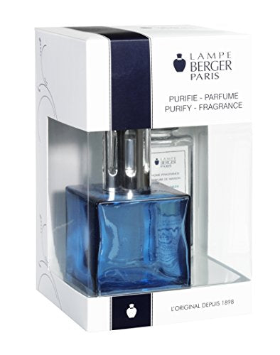Lampe Berger 113693 Cube Giftset Blue lamp Gift Set - Cube Blue, Includes Fragrance ocean Breeze 180ml / 6.08 Fl.Oz
