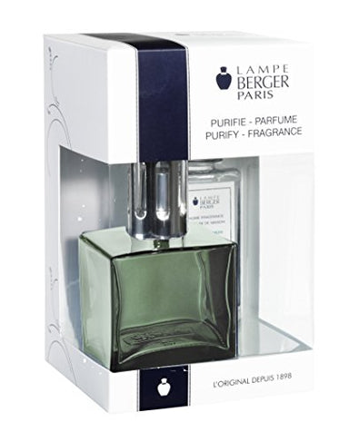 Lampe Berger 113692 Cube Giftset green lamp Gift Set - Cube green, Includes Fragrance ocean Breeze 180ml / 6.08 Fl.Oz