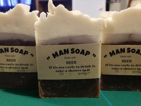 """Man soap""  shave and a haircut"