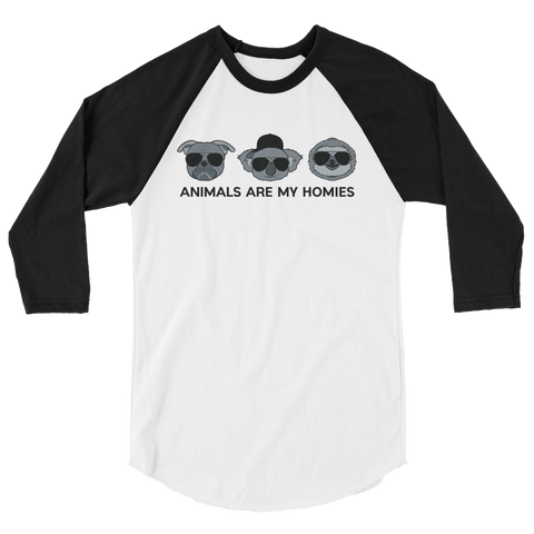 Animals are My Homies - 3/4 sleeve raglan shirt