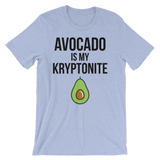 Avocado Is My Kryptonite - Unisex T-Shirt (black ink)