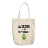 Avocado Is My Kryptonite - Cotton Tote Bag