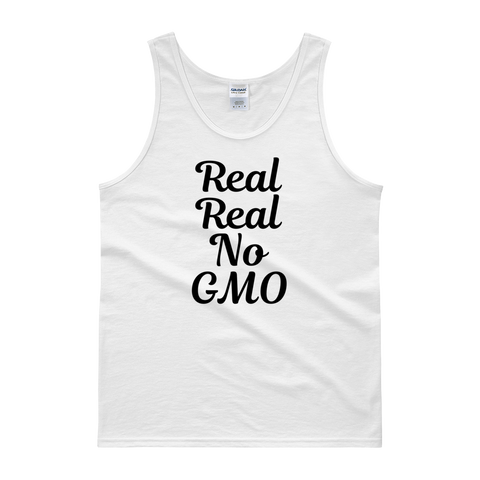 Real Real No GMO - Men's Tank Top (black ink)