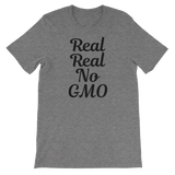 Real Real No GMO - Unisex T-shirt (black ink)