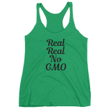 Real Real No GMO - Women's Tank Top (black ink)