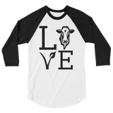Love Cows - 3/4 sleeve Raglan Shirt