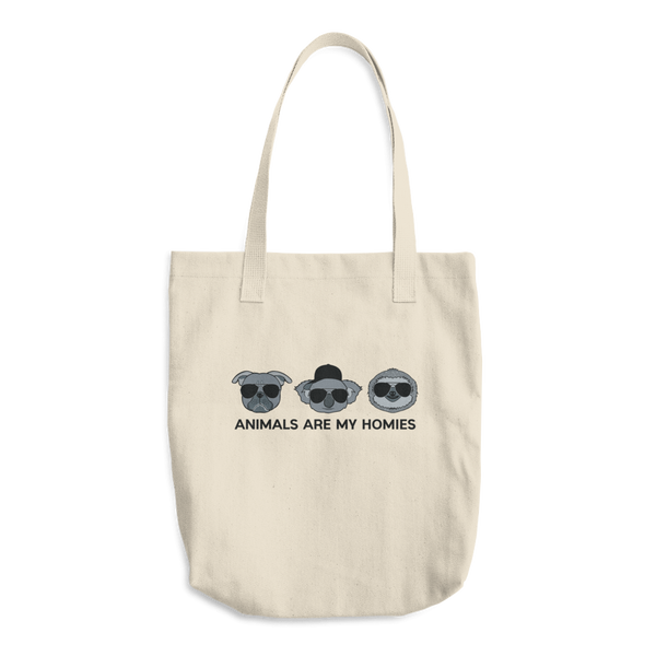 Animals are My Homies - Cotton Tote Bag