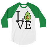 Love Avocado - 3/4 sleeve Raglan Shirt