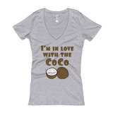 I'm in Love With the Coco - Women's V-Neck T-shirt