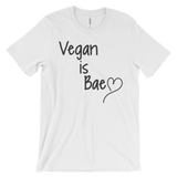 Vegan Is Bae - Unisex T-shirt (black ink)