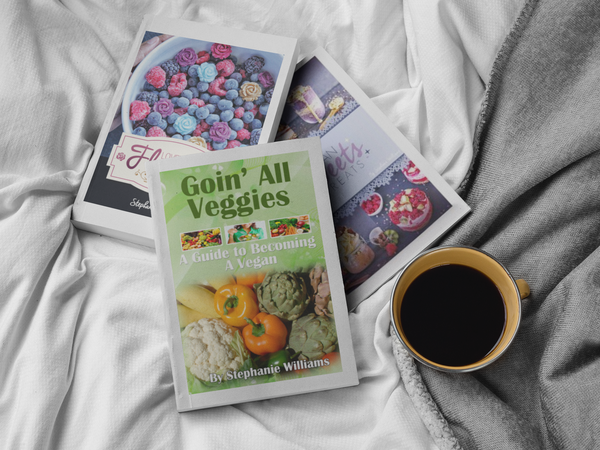 3 eBook Bundle Vegan Sweets & Treats, Goin' All Veggies & Lovely Little Flowers