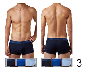 2(X)IST 3102033303 Cotton 3PK No-Show Trunks