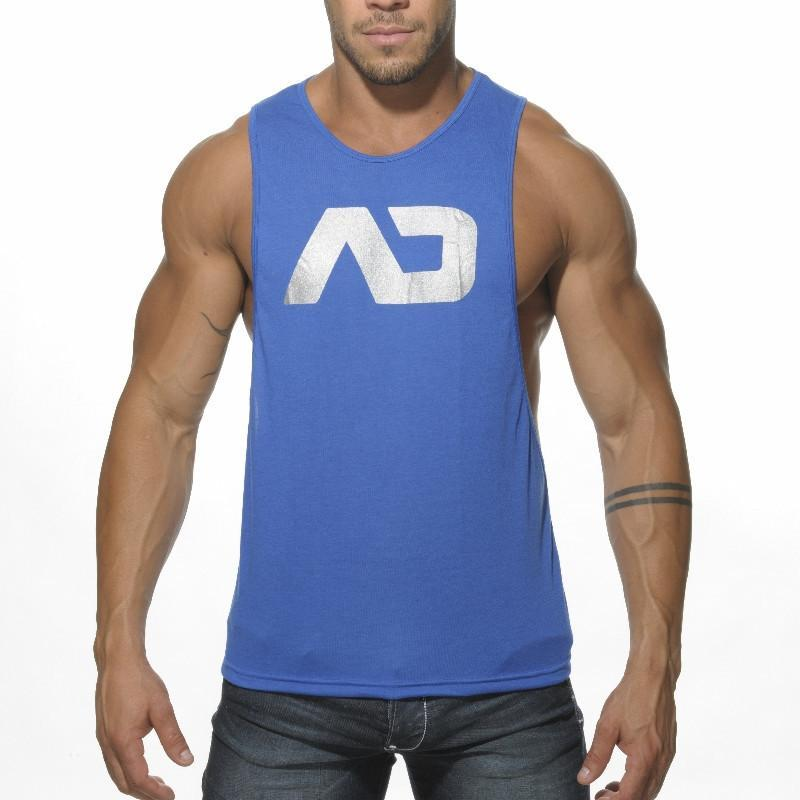ADDICTED AD43 AD Logo Low Rider Tanktop - Royal Blue