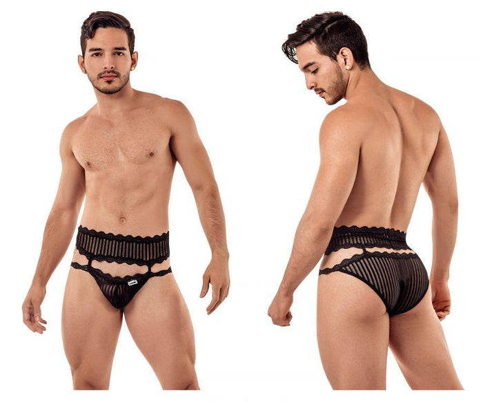 CandyMan 99417 Garter Belt Briefs