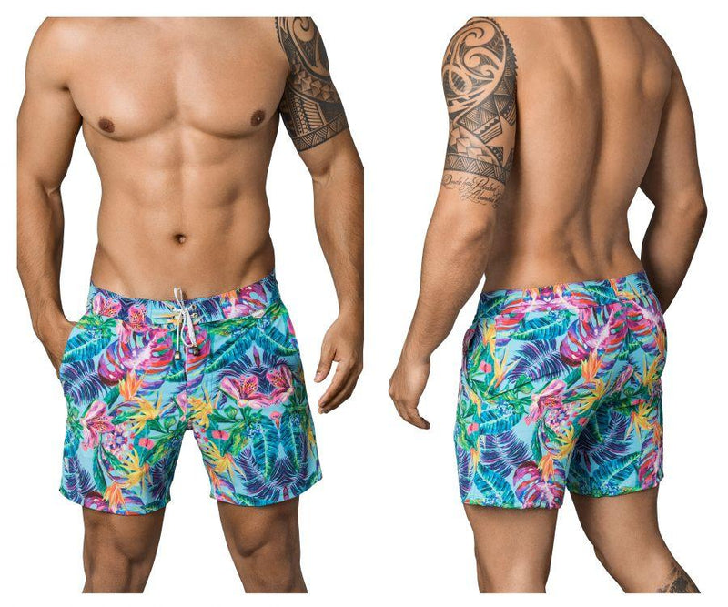 Clever 0665 Sea Plants Long Swim Trunks