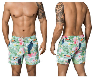 Clever 0666 Flowers Long Swim Trunks
