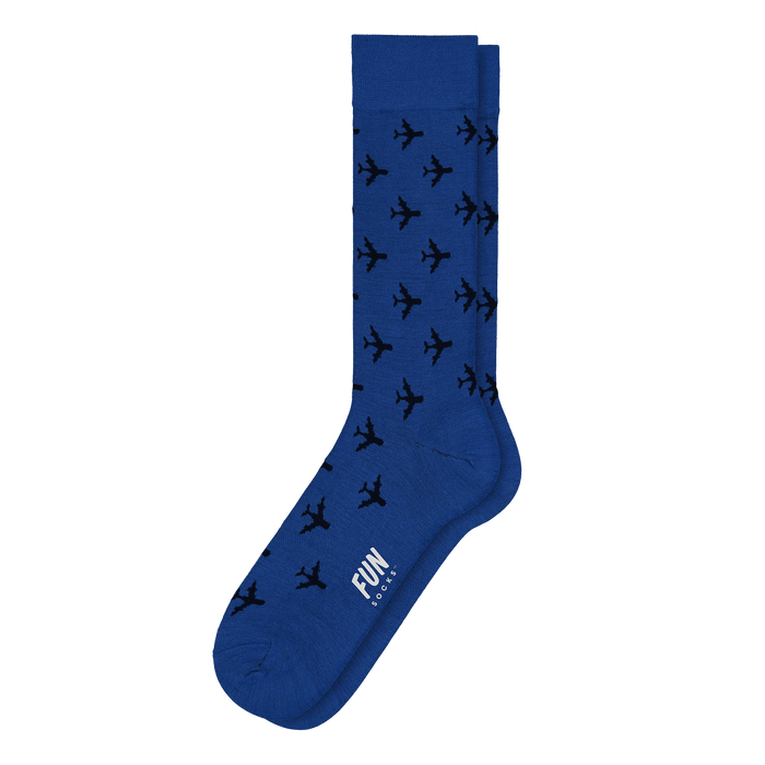 Airplane Socks Dress Socks