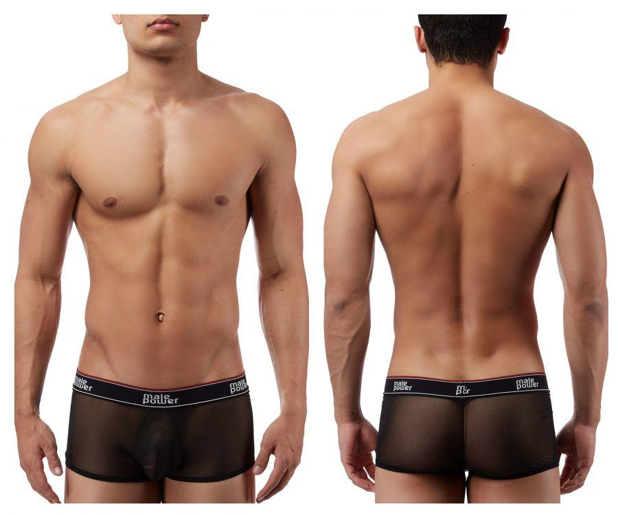 Male Power 145056 Branded Mesh Pouch Boxer Briefs