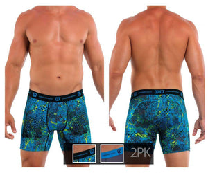 Undertech 347735-014 2Pk Printed and Solid Boxer Briefs
