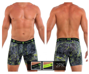 Undertech 347735SH-967 2Pk Printed and Solid Boxer Briefs