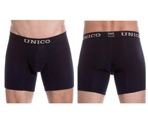 Unico 9612010020799 Boxer Briefs Soft Black Cotton